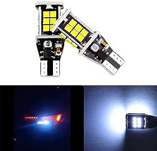 Dantoo 2 x T15 W16W 912 921 LED Reverse Light Bulbs 24 SMD Extremely Bright 6000K Xenon White Back Up Reverse LED Light Lamp