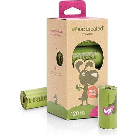 Earth Rated Bolsas con Aroma a Lavanda para Desechos de Perro, 120 Unidades, 8 Rollos de Repuesto
