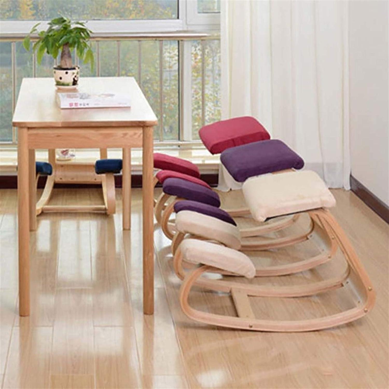 LWLEI Bois Ergonomique Genoux Chaise de Maison et de Bureau for Une Meilleure Posture Durable (Couleur : Bleu) Rouge