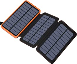 Portable Charger 24000mAh Solar Power Bank, Hiluckey Solar Charger External Battery Pack with Dual USB for Smartphones, Tablets and More