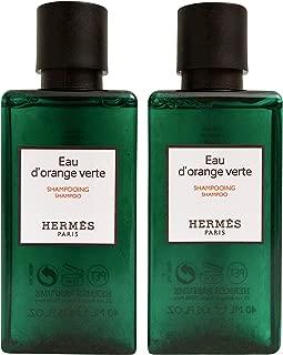 Hermes Eau D'Orange Verte Travel Size Shampoo Set of 2 x 1.35 OZ