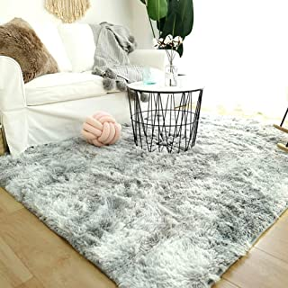 Modern Shaggy Rugs Fluffy Soft Touch Dazzle Sparkle Area Rug Carpet Large for Living Room Bedroom Floor Mat (Light Grey,16...