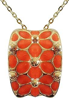 قلادة مطلية بالذهب 18 قيراط مربعة مطلية بالذهب من نافاتشي 16 بوصة + 2 بوصة