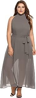 Womens Plus Size Bridesmaid Dress Sleeveless V Neck Cocktail Party Dress Elegant Evening Prom Dresses