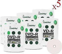 Smartbuy 4.7gb/120min 16x DVD-R White Inkjet Hub Printable Blank Media Recordable Disc (3000-Disc)