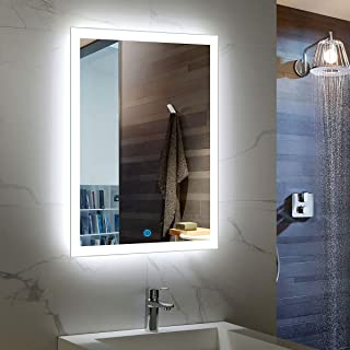 24 x 32 In Vertical LED Bathroom Silvered Mirror with Touch Button (C-N031)