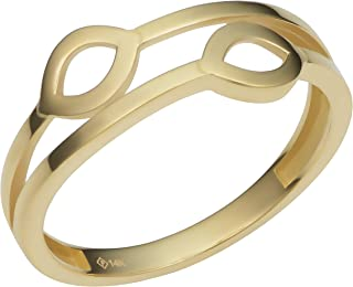 KoolJewelry 14k Yellow Gold 7 mm Double Marquise Shape Ring