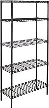 AmazonBasics 5-Shelf Shelving Storage Unit, Metal Organizer Wire Rack, Black (36L x 14W x 72H)
