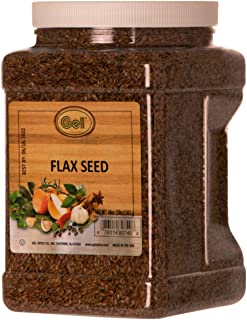 Gel Spice Whole Brown Flax Seeds Bulk Size 3 Pound