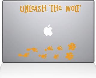 "The Decal Guru Unleash The Werewolf Macbook Decal Vinyl Sticker  - 12"" Macbook - Yellow (1243-MAC-12M-SY)"