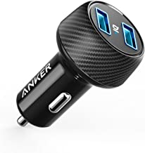 Anker 24W 4.8A Car Charger, 2-Port Ultra-Compact PowerDrive 2 Elite with PowerIQ Technology and LED for iPhone XS/Max/XR/X/8/7/6/Plus, iPad Pro/Air/Mini, Galaxy Note/S Series, LG, Nexus, HTC, and More
