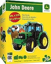 MasterPieces John Deere Plowing Through - 36 Piece Kids Shaped Floor Puzzle