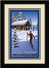 لوحة فنية جدارية بإطار من شمال غرب آرت مول، صورة كريستال لجبال واشنطن كروس الريفي، مقاس 33 سم في 40 سم