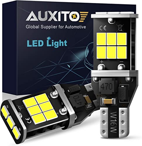 AUXITO 912 921 LED Backup Light Bulbs High Power 2835 15-SMD Chipsets Error Free T15 906 W16W for Back Up Lights Reve...