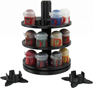 EnderToys 3-Tier Spinning Paint Rack, Compatible with Citadel Paints, 3D Printed