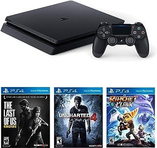 Sony Playstation 4 Slim(CUH-2215B) 1 TB Core con Starter Pack Bundle-(Jet Black)