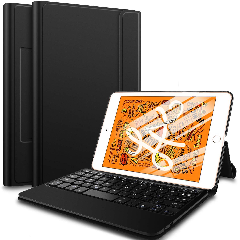 ELTD Teclado Estuche con Portalápices para iPad Mini 5 2019,[QWERTY diseño en inglés], Protectora Auto-Despertar/Dormir Cover Case Funda con Wireless Teclado para iPad Mini 5 2019, (Negro): Amazon.es: Electrónica