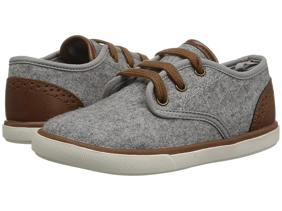 Baby Deer First Steps Faux Wool Sneaker (Infant/Toddler) (Grey) Boys Shoes