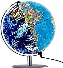 GJNVBDZSF Globo de mundo giratório iluminado, globo terrestre educativo interativo 3 em 1 para crianças | lâmpada de LED n...