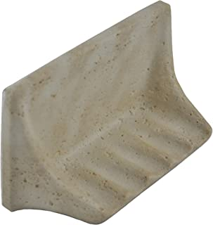 Vogue Tile Premium Quality Classic Light Travertine Resin Soap Dish Holder
