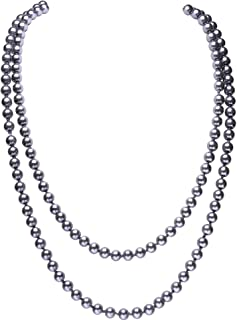 Art Deco Fashion Faux Pearls Necklace 1920s Flapper Beads Cluster Long Pearl Necklace for Gatsby Costume Party