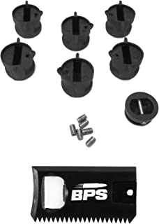 BPS 'Shaper Pack' - 6 FCS Style fin Plugs, 6 FCS Style Screws, a Combined Wax Comb, Bottle Opener and Hex Key and a Leash Plug
