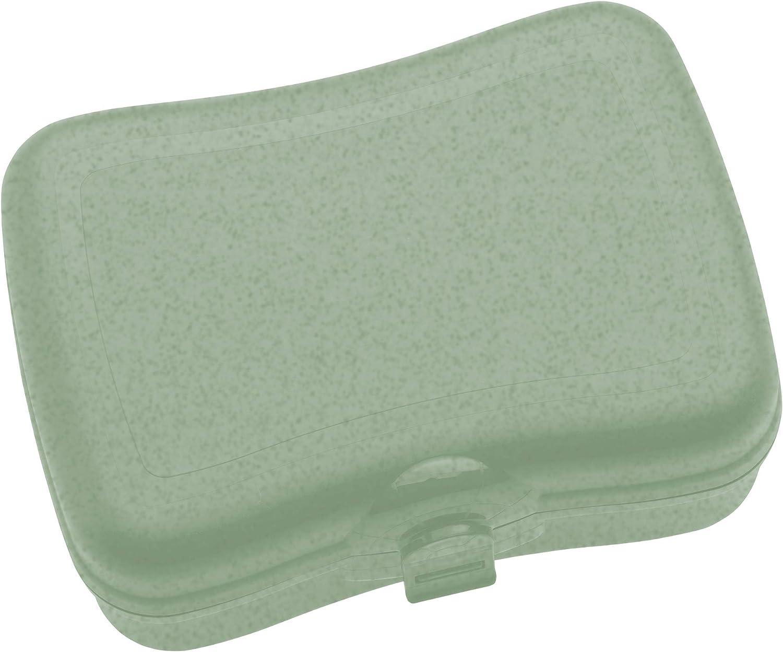 Koziol Basic, Breakfast Box, Lunch to go, Meal Prep, Organic Green, 168.0x122.0x66.0 mm