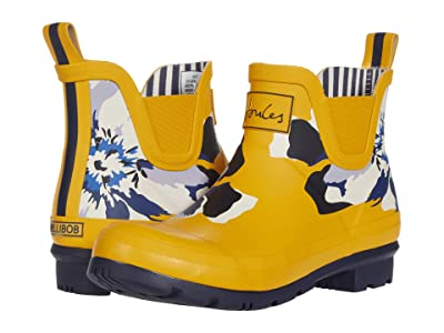 Joules Wellibob Chelsea Boot (Gold Floral) Women