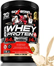 Six Star Elite Series 100% Whey Protein Powder Plus Muscle Builder, 32g Ultra-Pure Whey Protein Powder, Vanilla, 5 Pound