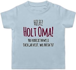 Shirtracer - Sprüche Baby - Hilfe Holt Oma - Baby T-Shirt Kurzarm