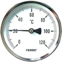 Medidor de temperatura industrial de metal sólido, sonda de 1/2 pulgadas, 63 mm