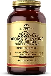 Solgar Ester-C Plus 1000 mg Vitamin C (Ascorbate Complex), 180 Tablets - Gentle On The Stomach & Non Acidic - Antioxidant ...