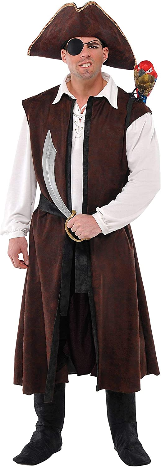 Amscan Long Brown Pirate Limited Special Price Vest Halloween Costume New color for Accessory Ad