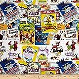 E. E. Schenck Disney Posters The Greatest Love Story Ever Told Multi Fabric by The Yard, Multicolor