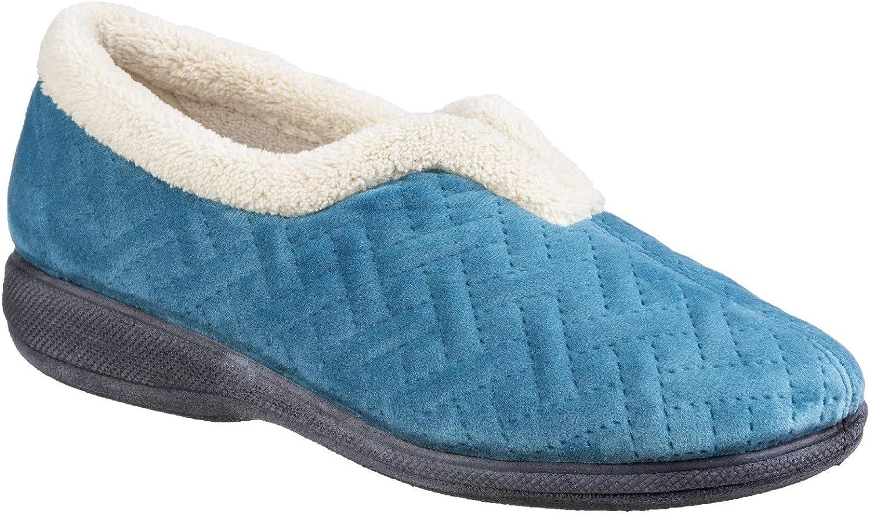 Fleet & Foster Womens Madison Slip On Slipper bluee Size UK 4 EU 37