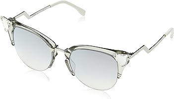 نظارة الشمس النسائية Ff 0041/S Fu 27c من فيندي، بيضاء