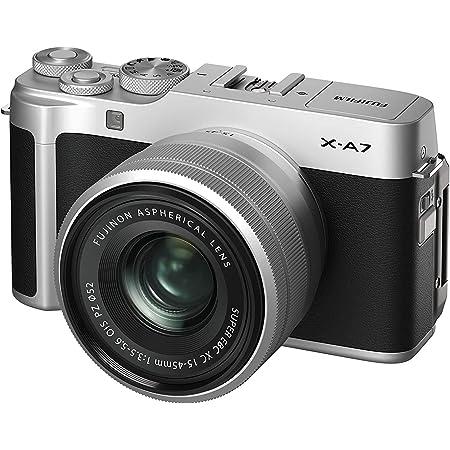 Fujifilm X-A7 Mirrorless Digital Camera w/XC15-45mm F3.5-5.6 OIS PZ Lens, Silver