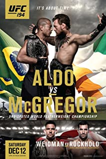 Pyramid America Official UFC 194 Jose Aldo vs. Conor McGregor Fight Cool Wall Decor Art Print Poster 12x18