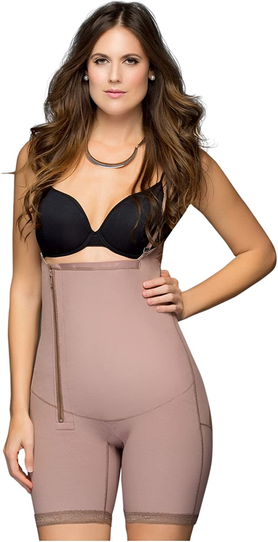 Fajas Colombianas Dprada BustFree girdle w  side zipper Mid Thigh Shapewear 11048