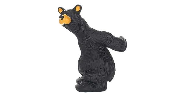 Bearfoots Julio Black Bear Decorative Kitchen Wine Bottle Holder 3005080214 New