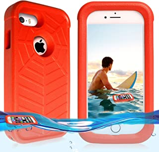 Temdan iPhone SE/5s/5 Floating Case with a 0.2mm Clear&Thin Waterproof Bag Shockproof Lifejacket Case for iPhone SE/5s/5(4inch)-Orange