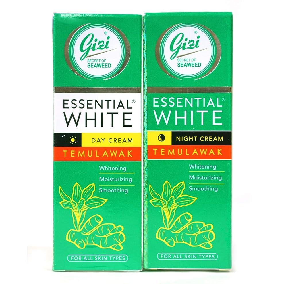 チャンピオン指定立法ギジ gizi Essential White フェイスクリーム チューブタイプ 日中用&ナイト用セット 18g ×2個 テムラワク ウコン など天然成分配合 [海外直送品]
