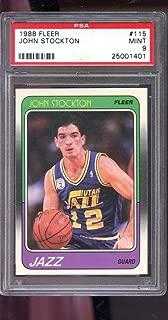 John Stockton Graded PSA 9 MINT (Basketball Card) 1988-89 Fleer - [Base] #115