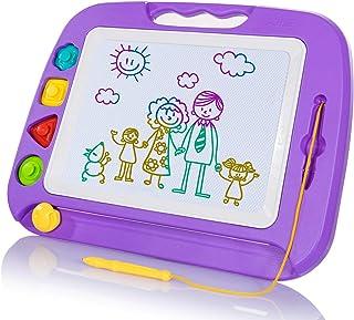 SGILE Ardoise Magique Grande - 42 X 33 cm Enfant Tableau de Dessin Magnétique Effaçable, Cadeau Jouet Educatif pour Bambin...
