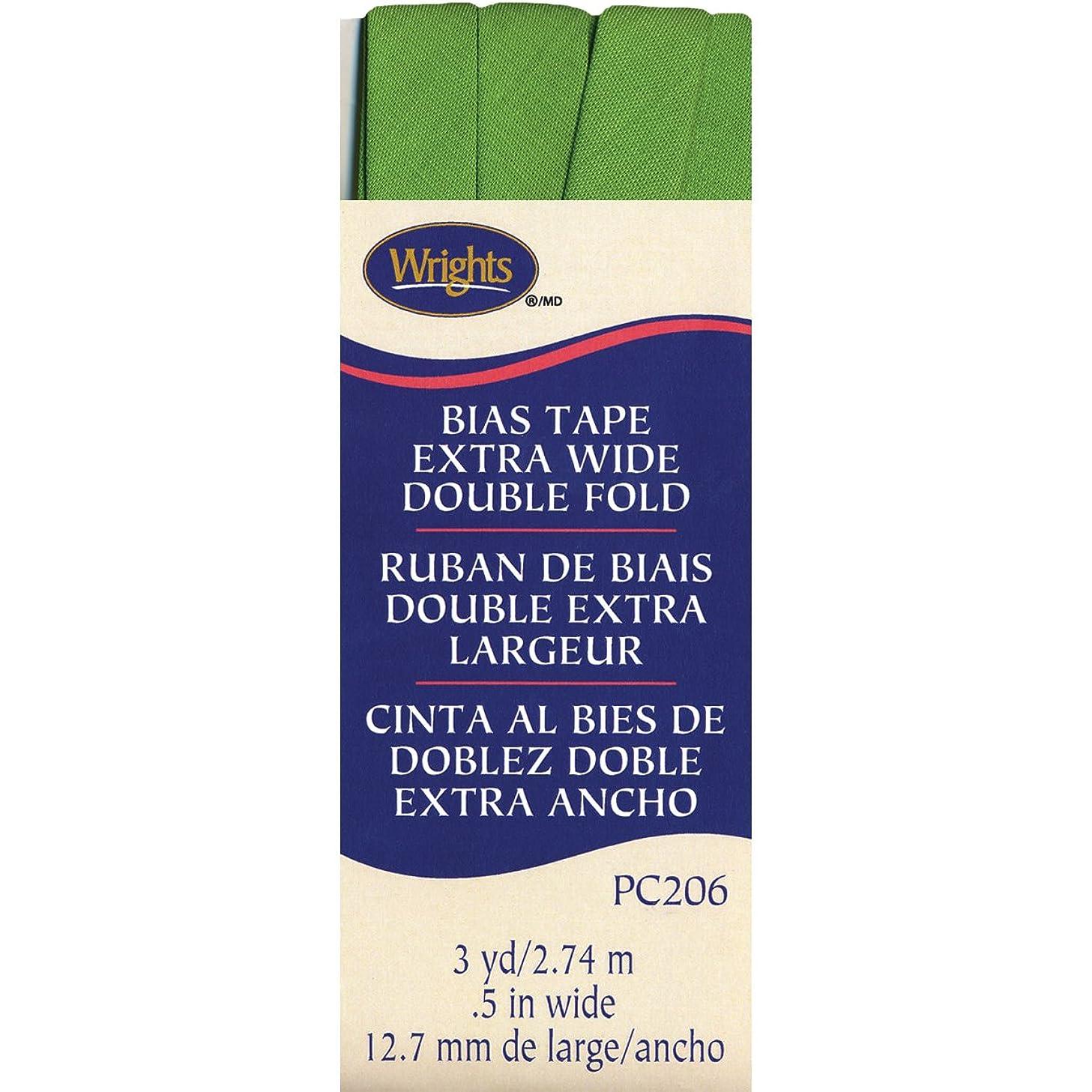 Wrights 117-206-1136 Double Fold Bias Tape, 1/2 by 3-Yard, Kiwi