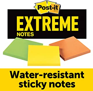Post-it Notas extremas, funciona ao ar livre, remove de forma limpa, 100 vezes o poder de retenção, verde, laranja, amarel...