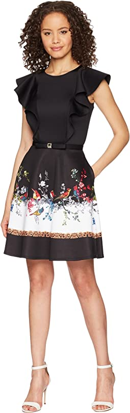 Ted Baker Shaelin Opulent Fauna Ruffle Bow Dress