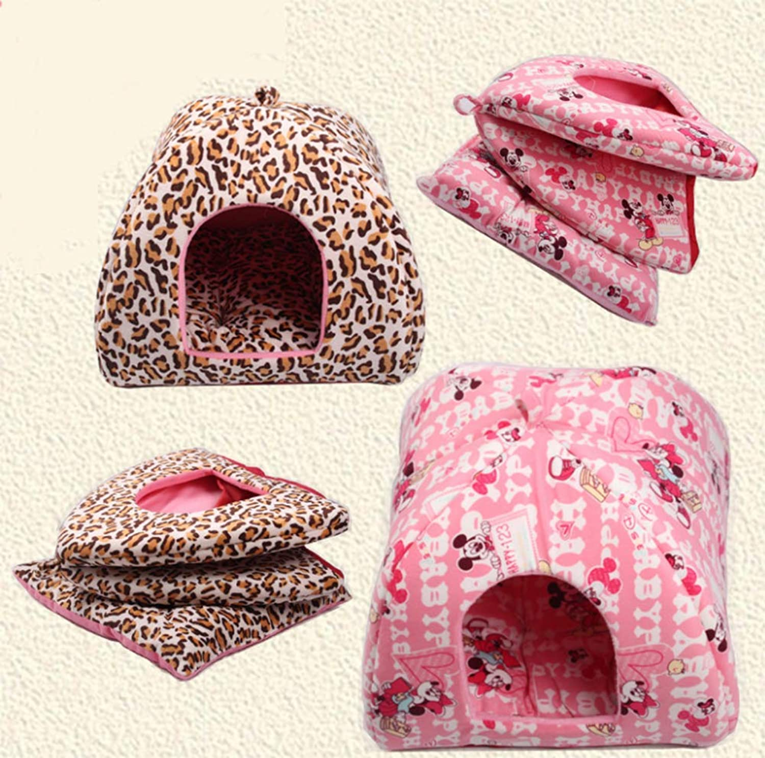 Autumn and Winter Warm Thickening Kennel Collapsible Yurt Pet Nest Cat Litter