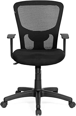 Nilkamal Ultima Mid Back Mesh Chair, Black