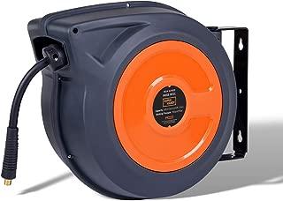 SuperHandy Air Hose Reel Retractable Spring Driven Polypropylene Heavy Duty Industrial 3/8